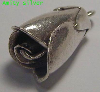 จี้เงินชาวเขา รูปดอกกุหลาบตูม,PD-SC-FL_5016