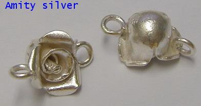 เครื่องเงินแท้ จี้รูปดอกกุหลาบดอกเล็ก, PD_NW_FL-5010