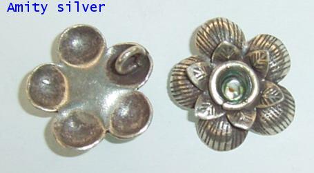 จี้เงินกะเหรี่ยง รูปดอกไม้, PD-DN-FL5009-2
