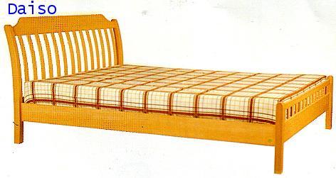 เตียงนอนไม้ยางพารา,DS Rubber wood Bed-31
