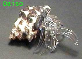 แก้วเป่ารูปปูเสฉวน ขนาดเล็ก รหัส SH Glass 14-S,14M