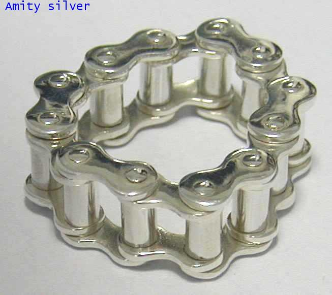 แหวนเงิน925 สไตล์ญี่ปุ่น รูปโซ่,แหวนรูปโซ่ RJ-13