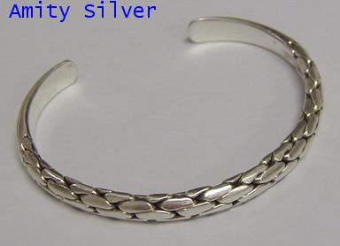 กำไลข้อมือเงินแท้, Pure Silver Bangle_012-010