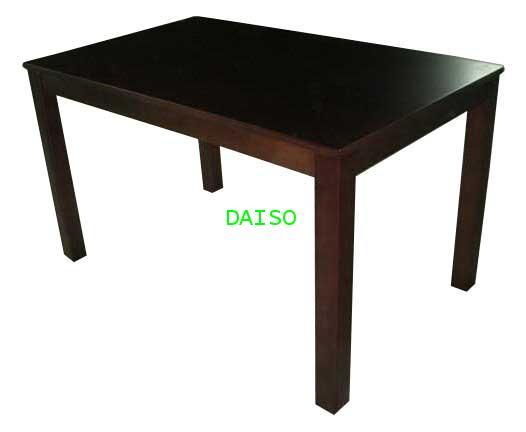 โต๊ะอาหารวีเนียร์ลายไม้บีชสีเข้ม/โต๊ะสีวอลนัท TRB-8