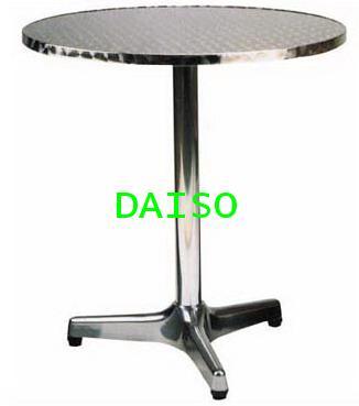 โต๊ะอาหารอลูมิเนียมกลม ขา3แฉก/โต๊ะอลูมิเนียมกลม T-75
