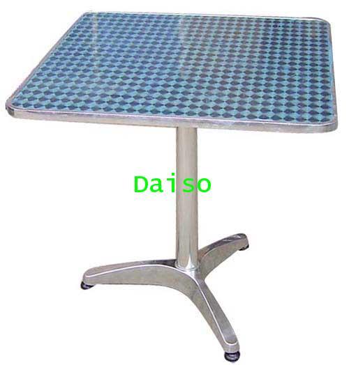 โต๊ะ โต๊ะอลูมิเนียม T-73 / โต๊ะอาหารอลูมิเนียม ขา3แฉก