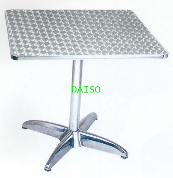 โต๊ะอลูมิเนียม T-74 / โต๊ะอาหารอลูมิเนียมสี่เหลี่ยม ขา4แฉก