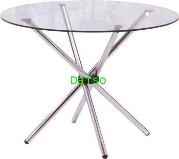 T-78 โต๊ะ-โต๊ะกระจก ขาโต๊ะสเตนเลส/โต๊ะกระจกกลม
