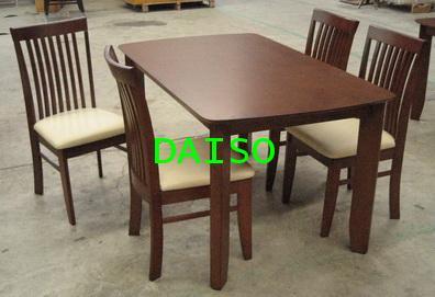 DPT-015 set_ชุดโต๊ะอาหารไม้ยาง/ชุดโต๊ะทานอาหารไม้4ที่นั่ง