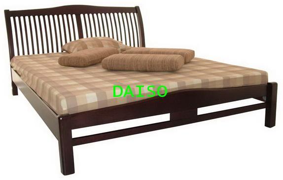 เตียงไม้ยางพารา DS Rubber wood Bed-1,