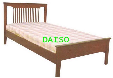 DS Rubber wood Bed-9, เตียงไม้ยางพารา