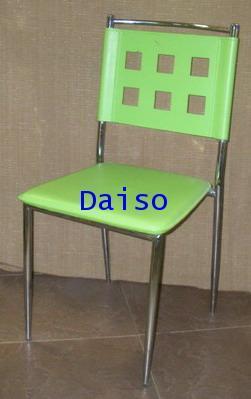 CD-187_เก้าอี้เหล็กชุบโครเมี่ยมหุ้มหนังเทียม/DPV-001 เก้าอี้เหล็กหุ้มหนังเทียม