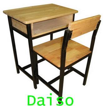 ชุดโต๊ะเก้าอี้นักเรียนมัธยม_S-131/โต๊ะเก้าอี้นักเรียนมัธยมโครงเหล็ก