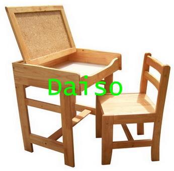 S-132 ชุดโต๊ะเก้าอี้นักเรียนมัธยม/โต๊ะเก้าอี้นักเรียนมัธยมไม้ยางพารา 1