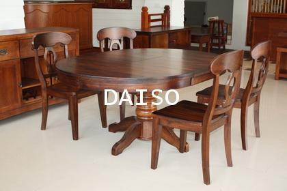 โต๊ะอาหารรูปไข่ โต๊ะนโปเลียน_DPT-033/โต๊ะอาหารฝรั่ง
