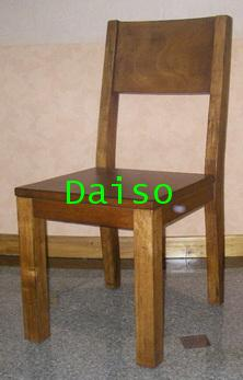 DPC-041_เก้าอี้ไม้สไตล์ไม้เก่า/เก้าอี้ไม้ยางแบบไม้เก่า