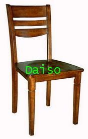 เก้าอี้_DPC-057/เก้าอี้ไม้ยางพื้นนั่งไม้