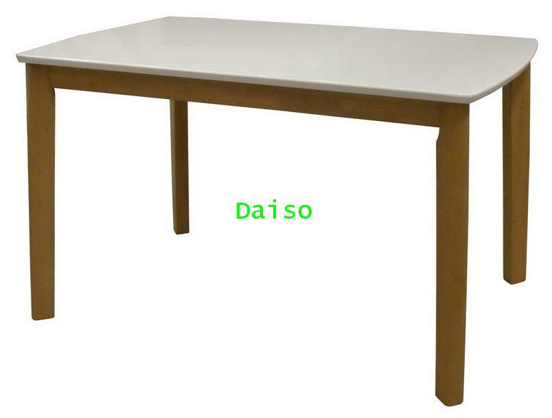 โต๊ะอาหารหน้าไฮกลอส/โต๊ะหน้าไฮกลอสสีขาว_DPT-019