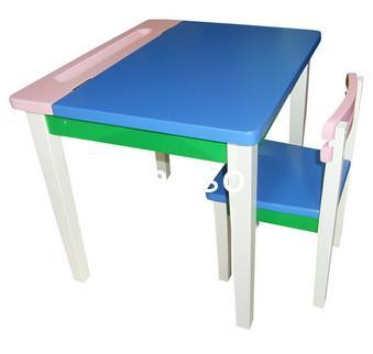 โต๊ะเขียนหนังสือเด็กS-139/โต๊ะเขียนหนังสือไม้ยาง 1