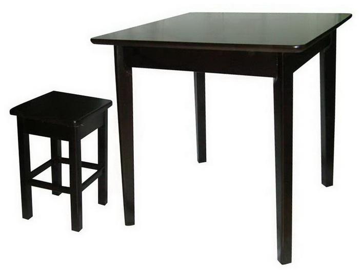 ชุดโต๊ะเก้าอี้ร้านกาแฟ ชุดโต๊ะเก้าอี้อาหารไม้ยาง T-73