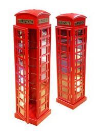ตู้ใส่ซีดี รูปตู้โทรศัพท์สีแดง