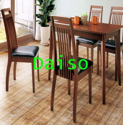 ชุดโต๊ะเก้าอี้ทานข้าวไม้