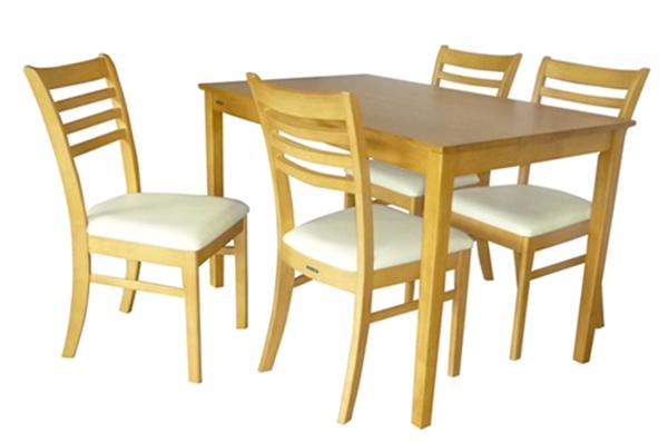 ชุดโต๊ะทานข้าว_DS-DN-83/ชุดโต๊ะเก้าอี้ไม้ยางพารา 4 ที่นั่ง