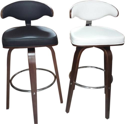 เก้าอี้บาร์ไม้ดัด เบาะ PVC_BCD-154