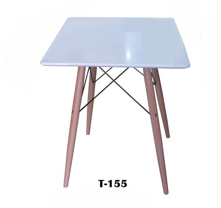 โต๊ะโมเดิร์นสี่เหลี่ยมสีขาว T_155