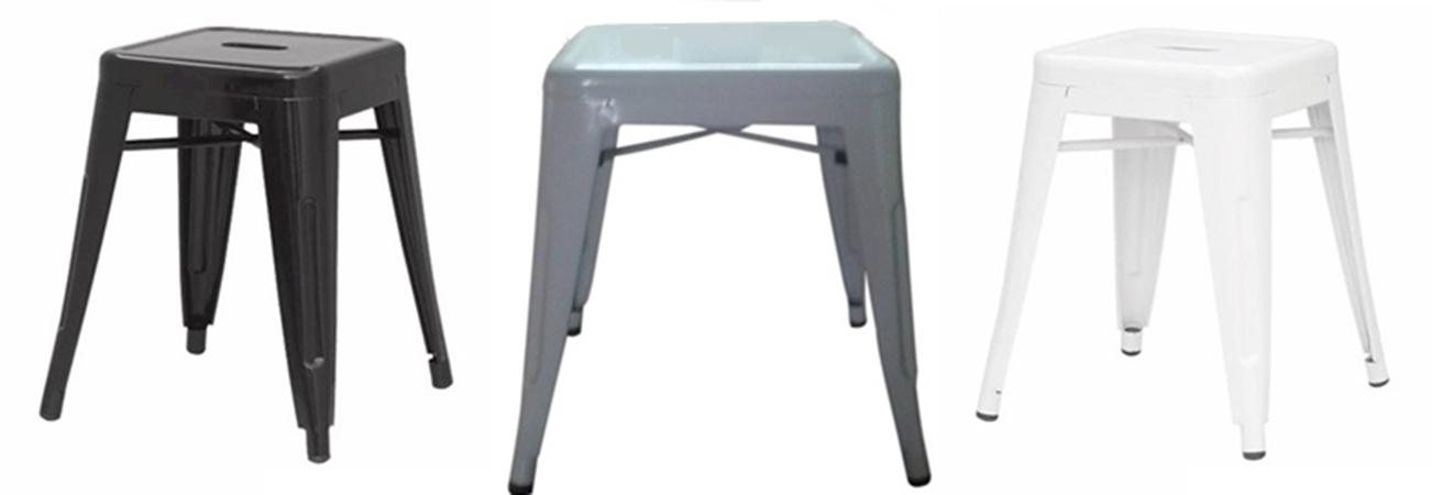เก้าอี้เหล็กร้านอาหาร ไม่มีพนักพิง CD_315/เก้าอี้สตูลเหล็ก เตี้ย