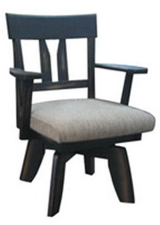 เก้าอี้ไม้ยางพารา หมุนได้ สไตล์วินเทจ DPC_087 / เก้าอี้กินข้าวไม้ยางพารา