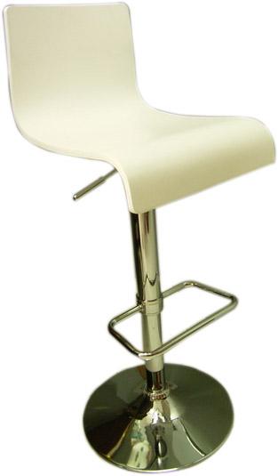 เก้าอี้บาร์ไม้ดัด สีขาว/เก้าอี้บาร์BCD-144