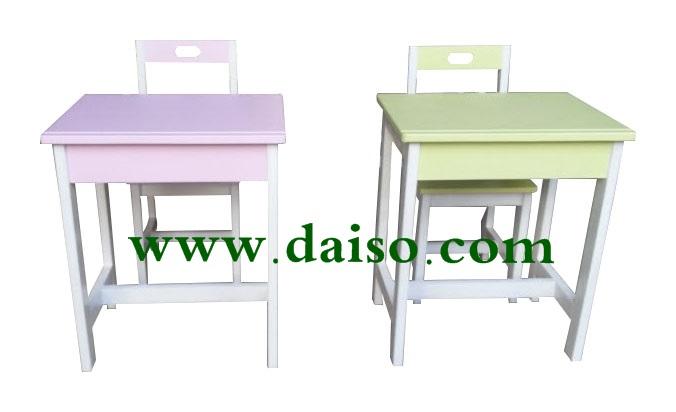 ชุดโต๊ะนักเรียนไม้ยางพารา S-150 4