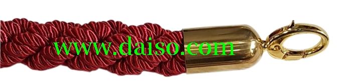 เชือกกั้นทางเดินหัวทอง แบบเกลียว  SSD-rope