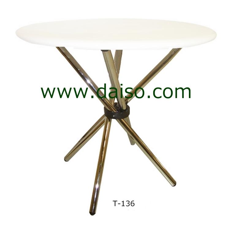 โต๊ะกลมพับได้ขาเหล็ก T-136