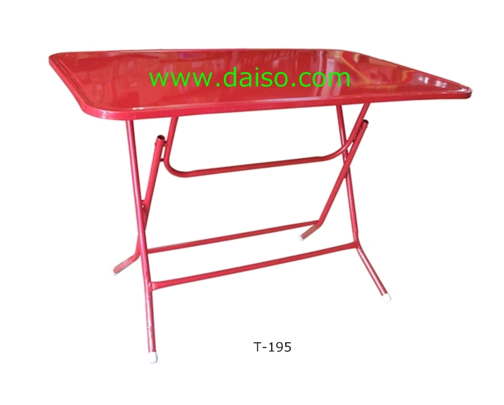 โต๊ะพับหน้าเหล็ก  4 ฟุต T-195