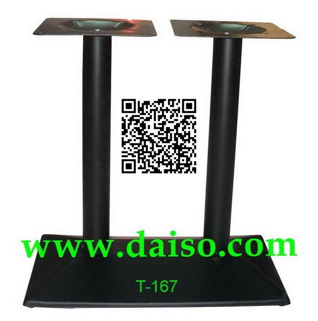 ขาโต๊ะเหล็กเสาคู่ ฐานขาโต๊ะเหล็กปั๊ม สีดำ_T-167/ขาโต๊ะนำเข้าสำเร็จรูป