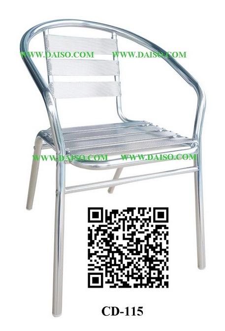 ขายส่งเก้าอี้อลูมิเนียมซ้อนได้/เก้าอี้อลูมิเนียมมีท้าวแขน CD-115