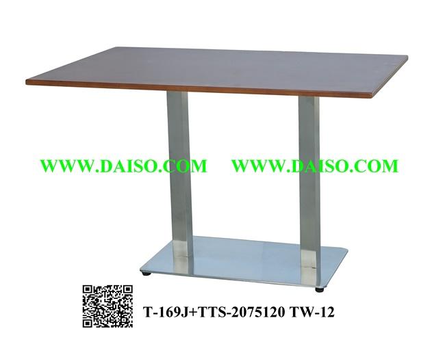 ขาโต๊ะสแตนเลส ขาคู่ พร้อมหน้าโต๊ะ / โต๊ะทานอาหาร T-169J+TTS-2075120 TW-12
