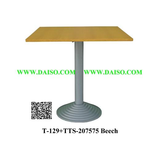ขาโต๊ะเหล็กหล่อ พร้อมหน้าโต๊ะ / โต๊ะทานอาหาร / T-129+TTS-207575 Beech