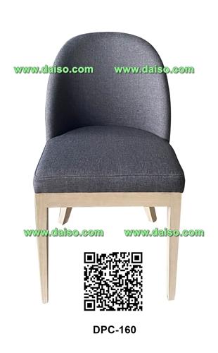 เก้าอี้ไม้ยางพารา หุ้มเบาะ DPC-160