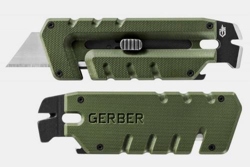 Gerber Prybrid Utility Multi-Function Tool, Replaceable Razor Blade, Green G10 Handles (31-003743)