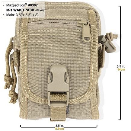 กระเป๋า Maxpedition M-1 Waistpack, Khaki (0307K)