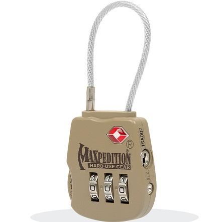 กุญแจล็อคกระเป๋าเดินทาง Maxpedition Tactical Luggage Lock (สี Khaki)