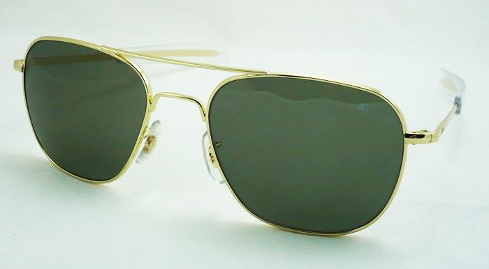 แว่นกันแดด AO Original Pilot /Gold Frame /Size 52 mm.