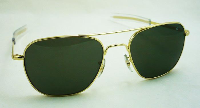 แว่นกันแดด AO Original Pilot /Gold Frame /Size 52 mm. 3