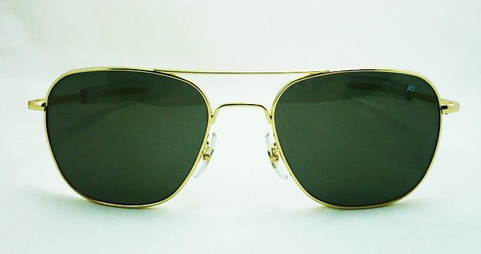 แว่นกันแดด AO Original Pilot /Gold Frame /Size 52 mm. 4