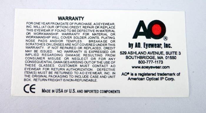 แว่นกันแดด AO Original Pilot /Silver Frame /Size 57 mm. 3