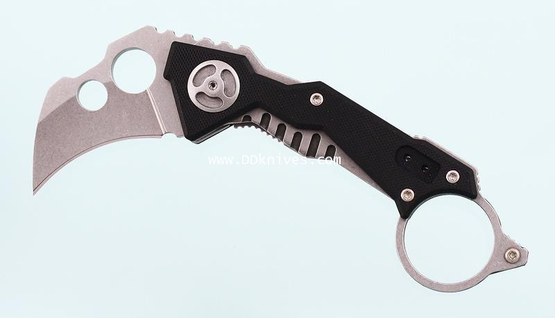 มีดคารัมบิท Quartermaster Knives QTR-2 B.A. Baracas Hawkbill Blade, G10 Handles (QTR-2)