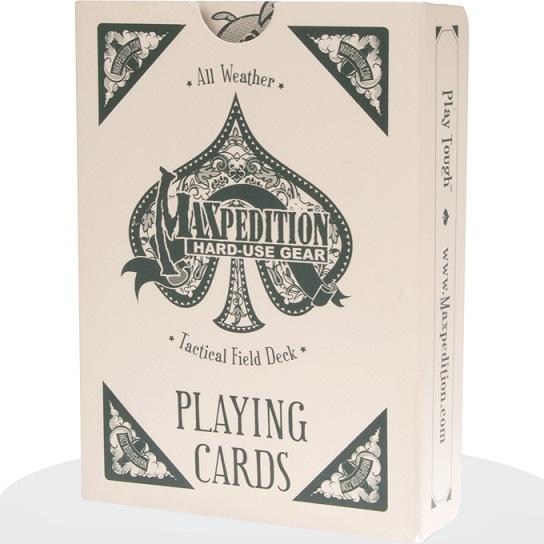 ไพ่พลาสติก Maxpedition Tactical Field Deck All Weather Playing Cards